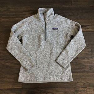 Patagonia Better sweater gray half zip